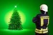 Feuerwehrmann zu Weihnachten