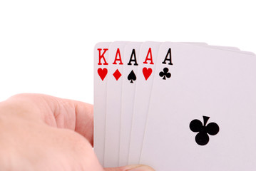 PLAYING CARD ON HAND
