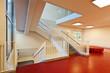 modern public school, staircase
