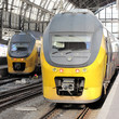 Passenger Trains in Amsterdam Central Station, Netherlands