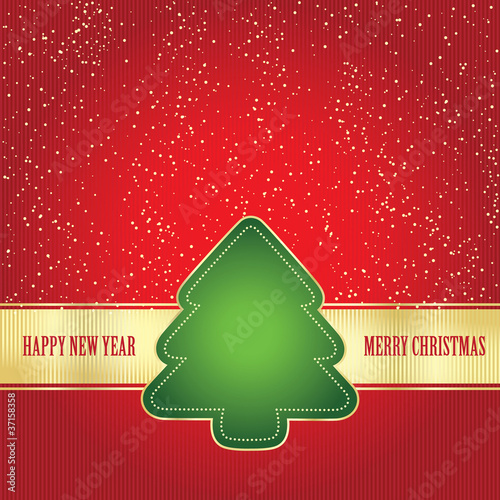 Card wit Christmas tree