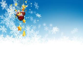 Winter, Schneekristalle, Weihnachtshintergrund, Mobile, Eis