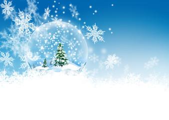 Schneekugel, verschneit, Winter, Schneeflocken, Eiskristalle