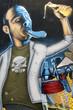 Arte urbano. Graffiti de un hombre en una pared