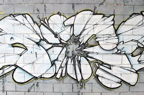 Arte urbano. Detalle de un graffiti en una pared © Oscar Espinosa