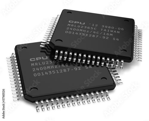Leinwanddruck Bild Computer microchips
