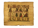 The image of eguptian pharaons on papyrus