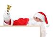 Santa and part of hollow bulletin board