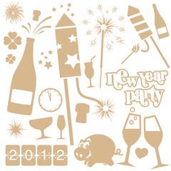 new year vector set
