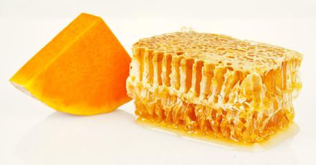 honeycomb and pumpkin