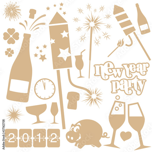 new year vector set