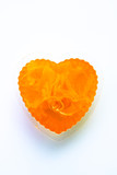 isolated foi thon thai jelly shaped heart