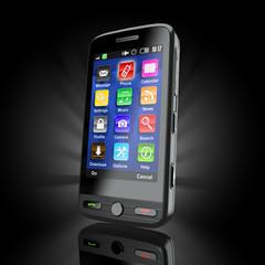 Cellphone. Mobile phone. 3d