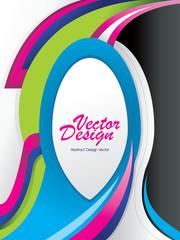 ilustracion en vector de curvas
