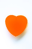 isolated orange thai jelly shaped heart