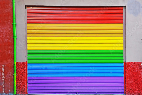 a six color metal shutter