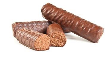 chocolate candies cut