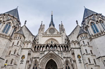 Royal Courts of Justice at London, England