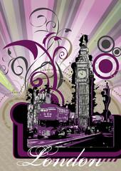 Ilustración vectorial de paisaje londinense