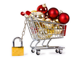 Secure Christmas shopping trolley