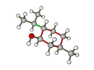 The molecule of menthol