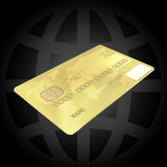 Gold Credit Card (EPS10)