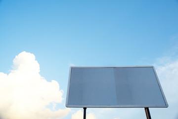Empty billboard on sky