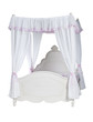 Luxurious canopy bed isolated over white, with clipping path
