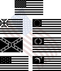 stencils of american flags. second variant
