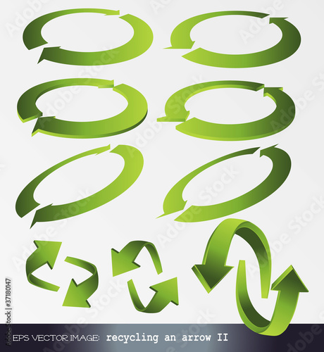 eps Vector image: recycling an arrow 2