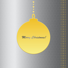 Silver and gold Christmas card