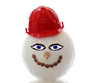 snowman with red helmet