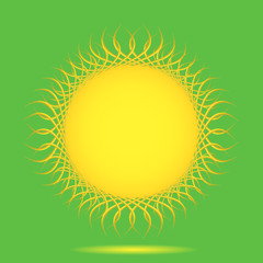 Vector sun background with place for your text.