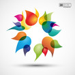 abstract colored background with drops # Vector