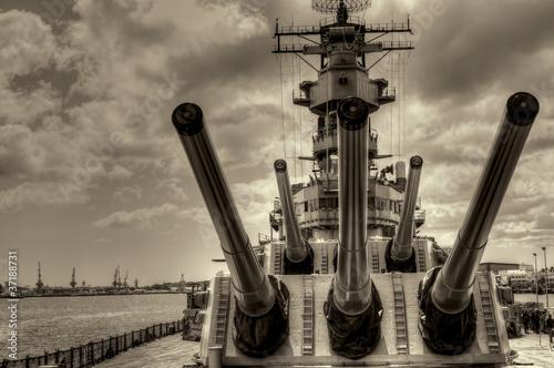 Leinwanddruck Bild Battleship Missouri