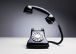 Vintage telephone over dark background