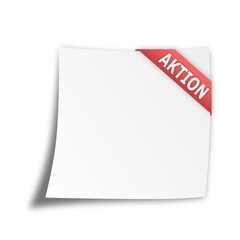 "Notizzettel ""AKTION"""