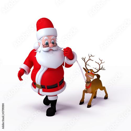 Santa claus aand reindeer