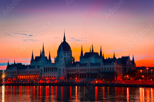 The House of Parliament, Budapest, just before sunrise