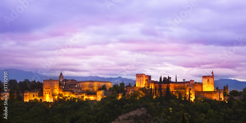 Panorama of Alhambra, Granada, Spain