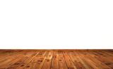 Fototapety Weisse Wand mit Holzboden - Eiche mit Astlöchern