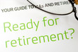 Getting ready for retirement concept of financial planning