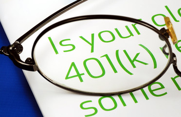 Focus on the investment in the 401K plan concept of retirement