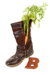 Boot with carrot for Dutch traditional feast: Sinterklaas