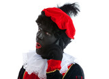zwarte piet ( black pete) with mobile phone