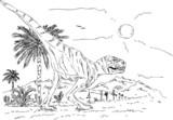 dinosaur walking - 37196122