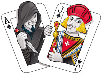 Black Jack. Funny cartoon and vector illustration