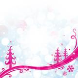 Carte de Noël, frise poster