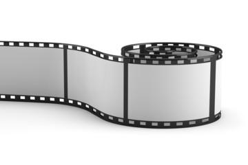 Filmstreifen auf weiss