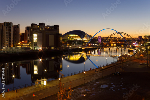 River Tyne at night